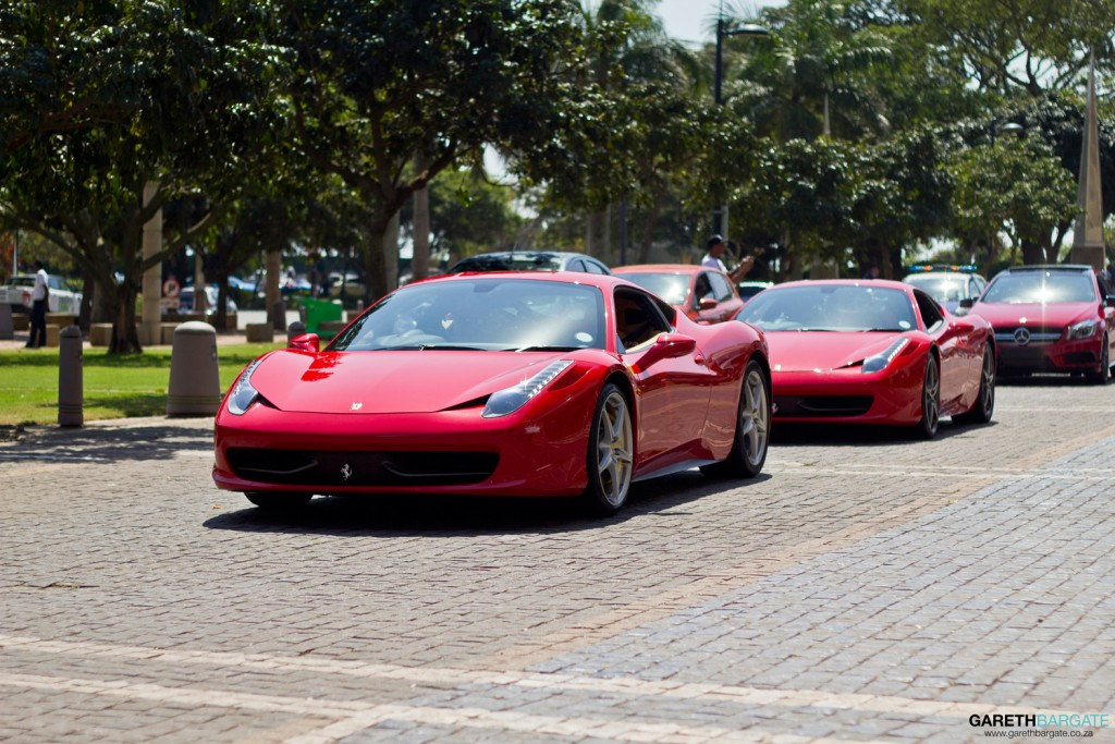 The Ferrari 458 certainly seems to be the car of choice for the more elite amongst us, with about 6 alone in this parade.
