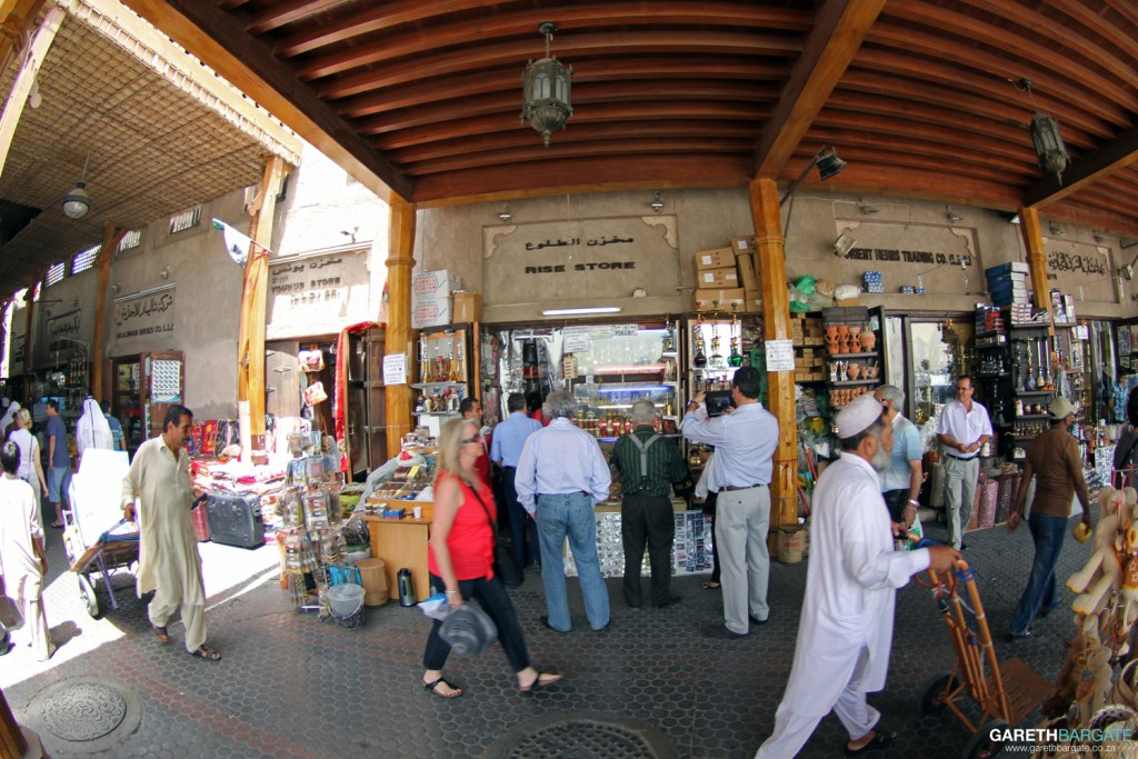 A brief view of what the inside of the souk looks like