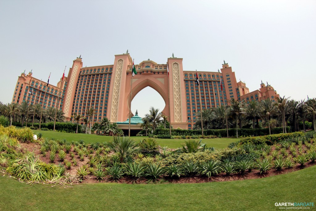 Atlantis resort, located at the very tip of the Palm Jumeirah development
